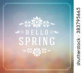 spring vector typographic... | Shutterstock .eps vector #383795665