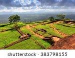 famous sigiriya rock king's... | Shutterstock . vector #383798155