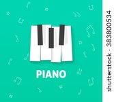 piano keys vector flat logo ... | Shutterstock .eps vector #383800534