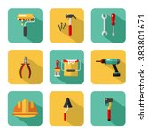 vector icons set of... | Shutterstock .eps vector #383801671