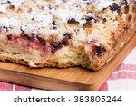 grandmothers cake with cherries ... | Shutterstock . vector #383805244