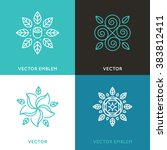 vector set of logo design... | Shutterstock .eps vector #383812411