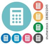 flat calculator icon set on...