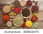 colorful  aromatic indian... | Shutterstock . vector #383826475
