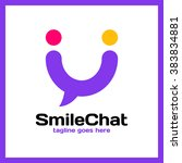 smile chat logo   happy people | Shutterstock .eps vector #383834881