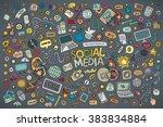 vector hand drawn doodle... | Shutterstock .eps vector #383834884