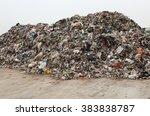 heap of various mixed waste | Shutterstock . vector #383838787