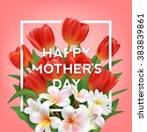 happy mothers typographical... | Shutterstock .eps vector #383839861