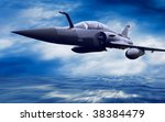 military airplan on the speed | Shutterstock . vector #38384479