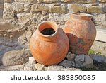 Two Antique Amphoras On The...