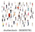 corporate teamwork isolated... | Shutterstock . vector #383850781