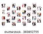 united company many colleagues  | Shutterstock . vector #383852755
