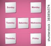 vector weekdays written on... | Shutterstock .eps vector #383856574