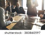 business team meeting... | Shutterstock . vector #383860597