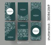 floral ornament vector brochure ... | Shutterstock .eps vector #383861869
