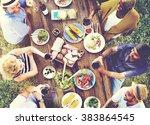 friends friendship outdoor... | Shutterstock . vector #383864545