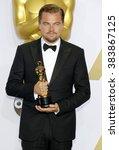 leonardo dicaprio at the 88th... | Shutterstock . vector #383867125