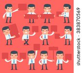 flat simple character manager...   Shutterstock .eps vector #383870569