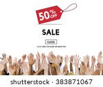sale price tag promotion... | Shutterstock . vector #383871067