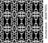 aztec seamless pattern. ikat... | Shutterstock . vector #383875051