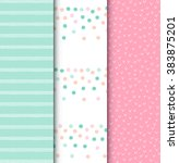 set of dots seamless pattern.... | Shutterstock .eps vector #383875201