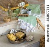 traditional turkish bath...   Shutterstock . vector #383877961