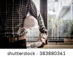 smart businessman holding... | Shutterstock . vector #383880361