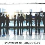 business people working working ... | Shutterstock . vector #383894191