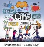 care assurance secured... | Shutterstock . vector #383894224