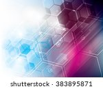 abstract technology background... | Shutterstock .eps vector #383895871