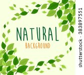 green and natural background.... | Shutterstock .eps vector #383897551