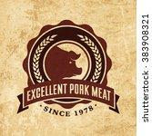 vector logo template of... | Shutterstock .eps vector #383908321