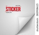 illustration of vector paper... | Shutterstock .eps vector #383908615