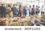 food buffet catering dining... | Shutterstock . vector #383911201