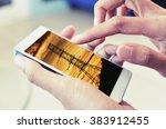 searching power saving data...   Shutterstock . vector #383912455