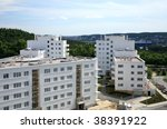 Modern apartment buildings, new housing area in Gdynia, Poland. - stock photo