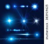 lens flare set. shining... | Shutterstock .eps vector #383919625