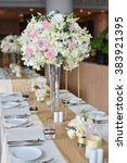 wedding set ups | Shutterstock . vector #383921395