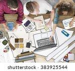 brainstorming creation... | Shutterstock . vector #383925544