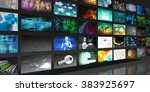 media technologies concept as a ... | Shutterstock . vector #383925697