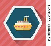 transportation ferry flat icon... | Shutterstock .eps vector #383927041