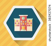 building school flat icon with... | Shutterstock .eps vector #383927074