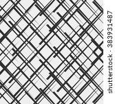 black and white geometric... | Shutterstock .eps vector #383931487