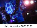 bass guitarist live in concert | Shutterstock . vector #38393959