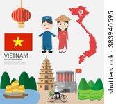 vietnam  asean economic... | Shutterstock .eps vector #383940595
