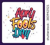 illustration celebrating april... | Shutterstock .eps vector #383942521