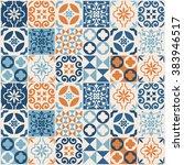 vintage tile pattern. vector... | Shutterstock .eps vector #383946517