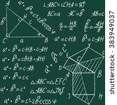 hand drawn mathematical vector... | Shutterstock .eps vector #383949037