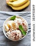 fruit banana ice cream in bowl  ... | Shutterstock . vector #383950849