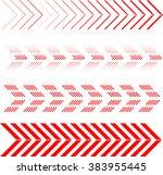 arrow set. red arrow with... | Shutterstock .eps vector #383955445